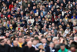 Racegoers in the crowd during Gold Cup Day of the 2017 Cheltenham Festival