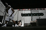 Manchester, TN, June 11, 2005; Jurassic 5 featuring MCs Chali 2na, Zaakir (Soup), Akil and Marc 7 and DJs Cut Chemist and Nu-Mark performs during The Bonnaroo 2005 Arts and Music Festival. Mandatory Credit: Photo by Bryan Rinnert/3 Sight Photography. (©) Copyright 2005 by Bryan Rinnert