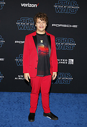 Gaten Matarazzo at the World premiere of Disney's 'Star Wars: The Rise Of Skywalker' held at the Dolby Theatre in Hollywood, USA on December 16, 2019.
