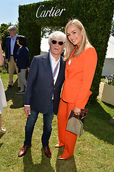 Bernie Ecclestone and Carmen Jorda at the Cartier Style et Luxe at the Goodwood Festival of Speed, Goodwood, West Sussex, England. 2 July 2017.<br /> Photo by Dominic O'Neill/SilverHub 0203 174 1069 sales@silverhubmedia.com