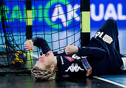 Clara Woltering of Buducnost during handball match between RK Krim Mercator and Buducnost Podgorica (MNE) in season 2011/2012 of EHF Women's Champions League, on February 24, 2012 in Arena Stozice, Ljubljana, Slovenia. (Photo By Vid Ponikvar / Sportida.com)