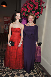 Left to right, HELENA MORRISSEY Chairman of The Eve Appeal and QUEEN ANNE-MARIE OF GREECE at the Red & Black Valentine's Dinner & Dance in aid of The Eve Appeal at One Mayfair, North Audley Street, London W1 on 14th February 2013.