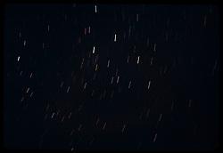 Bryce Canyon National Park. Star Trails. Nikon Ftn Camera, 35mm f/2 lens, f/2.8 1/2 8 minutes