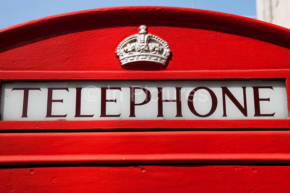 Red phone box on Bond Street, central London