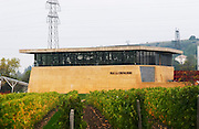 Mas La Chevaliere. near Beziers. Languedoc. The winery building. France. Europe.