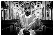 Father Arthur Torres Barona at Sacred Heart Cathedral, Monday, Sept. 23, 2019, in Knoxville, Tennessee. (Wade Payne/www.wadepaynephoto.com)