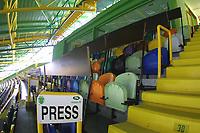 LISBOA-20 OUTUBRO:PRESS STAND (bancada de imprensa) do Est‡dio Alvalade XXI¼ casa da equipa da super liga do Sporting C.P. e que vai albergar o EURO 2004, 20-10-03 19:45 no est‡dio Alvalade XXI.<br />(PHOTO BY: AFCD/NUNO ALEGRIA)