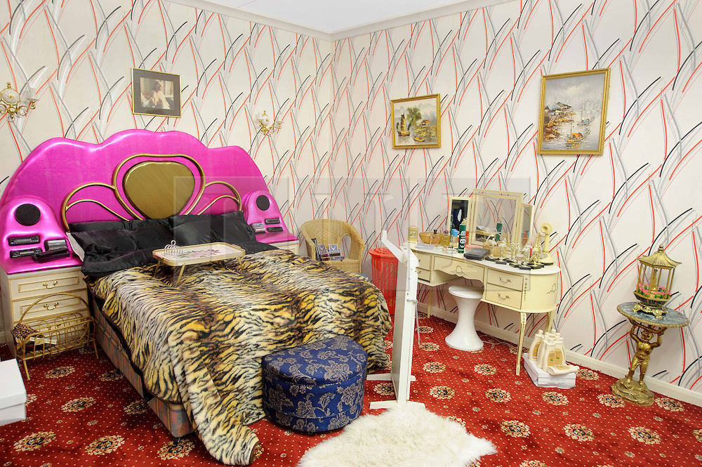 © Licensed to London News Pictures. 15/03/2013 London, UK.  A view of a replica of Dell Boy's famous Peckham flat bedroom at the Ideal Home Show 2013. The Trotters Only Fools and Horses residence has been given a modern makeover by Celebrity designer George Clarke. .Photo credit : Simon Jacobs/LNP