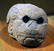 Izapan Altar. Mexican alter with feline head circa 1st Century BC-1st Century Ad.