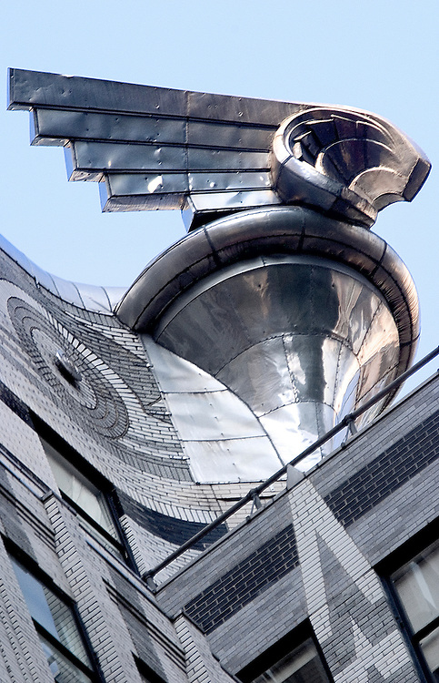 Giant winged Art Deco metal ornament on the Chrysler Building