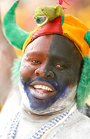 Photo: Steve Bond/Richard Lane Photography.<br />Ivory Coast v Benin. Africa Cup of Nations. 25/01/2008. Benin fan
