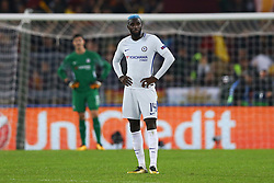 October 31, 2017 - Rome, Italy - Tiemou Bakayoko of Chelsea after the goal of 3-0  during the UEFA Champions League football match AS Roma vs Chelsea on October 31, 2017 at the Olympic Stadium in Rome. (Credit Image: © Matteo Ciambelli/NurPhoto via ZUMA Press)
