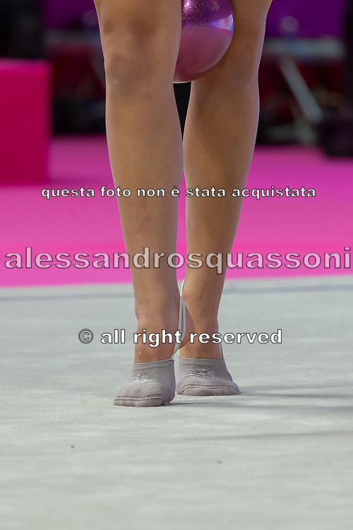 Candela Urso from Argentina performs at ball during the Pesaro 2021 World Cup.