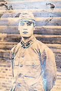 deteriorating soldier portrait Japan ca 1940s