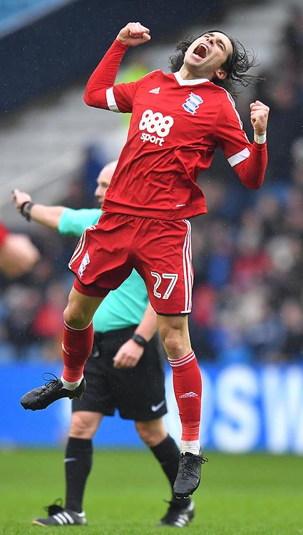 Birmingham City's Jota celebrates scoring his team's second goal