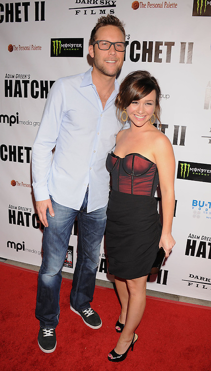 """HOLLYWOOD, CA. - September 28: Michael Rosenbaum and Danielle Harris arrive at the """"Hatchet II"""" Los Angeles Premiere at the Egyptian Theatre on September 28, 2010 in Hollywood, California."""