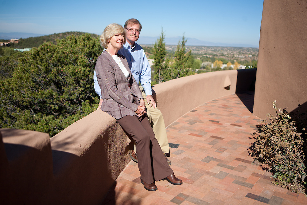 Former Merrill Lynch executive James A. Brown and his wife Nancy pose on the patio of their Santa Fe New Mexico home on October 15, 2010...Credit: Steven St. John for The Wall Street Journal.ENRON