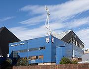 Football ground stadium Ipswich Town Football Club, Ipswich, Suffolk, England, UK view from Russell Road