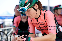 Esther van Veen (NED) prepares for Tour of Chongming Island 2019 - Stage 1, a 102.7 km road race on Chongming Island, China on May 9, 2019. Photo by Sean Robinson/velofocus.com