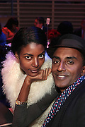 November 3, 2012- New York, NY: (L-R) Model Maya Gate Haile Samuelsson and Celebrity Chef/Resturanteur/Author Marcus Samuelsson at the EBONY Power 100 Gala Presented by Nationwide held at Jazz at Lincoln Center on November 3, 2012 in New York City. The EBONY Power 100 Gala Presented by Nationwide salutes the country's most influential African Americans.(Terrence Jennings) .