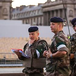 Répétitions matinales du défilé à pied le 9 juillet sur les Champs Elysées.<br /> juillet 2016 / Paris (75) / FRANCE<br /> Cliquez ci-dessous pour voir le reportage complet en accès réservé<br /> http://sandrachenugodefroy.photoshelter.com/gallery/2016-07-Repetitions-du-defile-du-14-juillet-Complet/G0000Av80JipVmfE/C0000yuz5WpdBLSQ