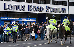 © Ben Cawthra. 28/01/2012. Increased police presence before the Barclays Premiership football match between QPR and Chelsea. Security has been heightened due to tensions between the clubs following an on field alleged racial incident. Photo credit : Ben Cawthra