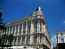The InterContinental Carlton, the luxury hotel built in 1909, located at 58 La Croisette in Cannes on the French Riviera. 3rd July, 2011..©Pic : Michael Schofield.
