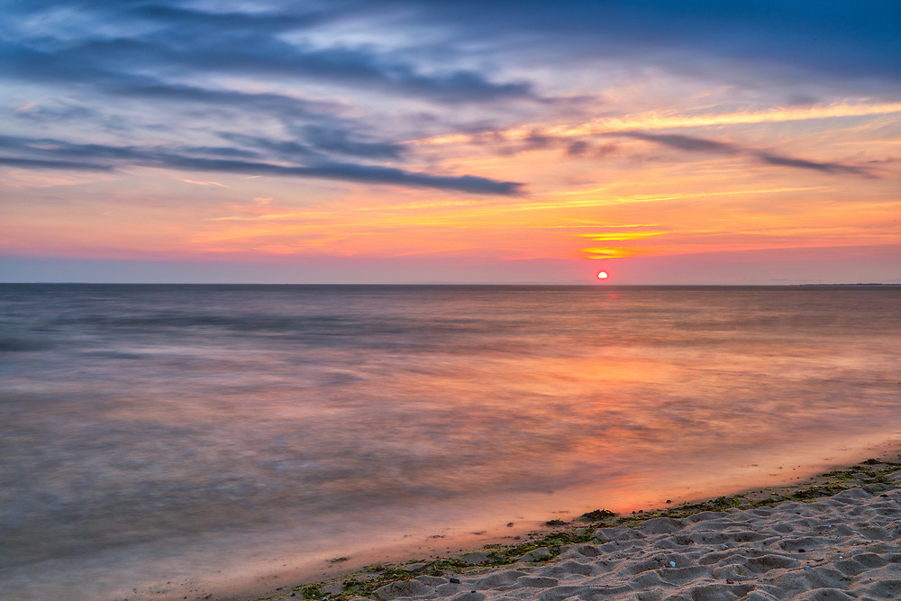 Cape Cod Bay Duck Harbor Beach sunset photography, located in Wellfleet, Massachusetts.<br /> <br /> Beautiful Cape Cod Bay sunset photography pictures of Duck Harbor Beach are available as museum quality photography prints, canvas prints, acrylic prints, wood prints or metal prints. Fine art prints may be framed and matted to the individual liking and interior design decorating needs.<br /> <br /> Good light and happy photo making!<br /> <br /> My best,<br /> <br /> Juergen