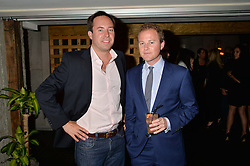 Left to right, JAMIE MURRAY-WELLS and GUY PELLY at the launch of Geisha at Ramusake hosted by Piers Adam and Marc Burton at Ramusake, 92B Old Brompton Road, London on 11th June 2015.