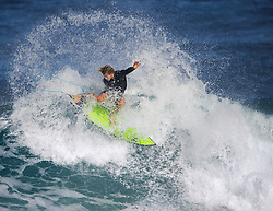 December 16, 2017 - Banzai Pipeline, Hawaii, U.S. - JOHN JOHN FLORENCE of Hawaii free surfing Off The Wall before the start of the Billabong Pipe Masters Saturday. (Credit Image: © Erich Schlegel via ZUMA Wire)