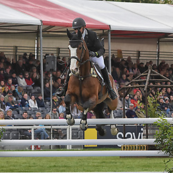 Michael Owen Badminton Horse trials Gloucester England UK May 2019. Michael Owen equestrian eventing representing Great Britain riding Bradley Law in the Badminton horse trials 2019 Badminton Horse trials 2019 Winner Piggy French wins the title