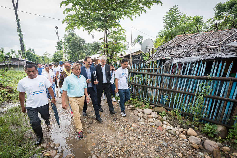 14 September 2018, Damak, Nepal:  Supported by the Lutheran World Federation, the Beldangi refugee camp in the Jhapa district of Nepal hosts more than 5,000 Bhutanese refugees.