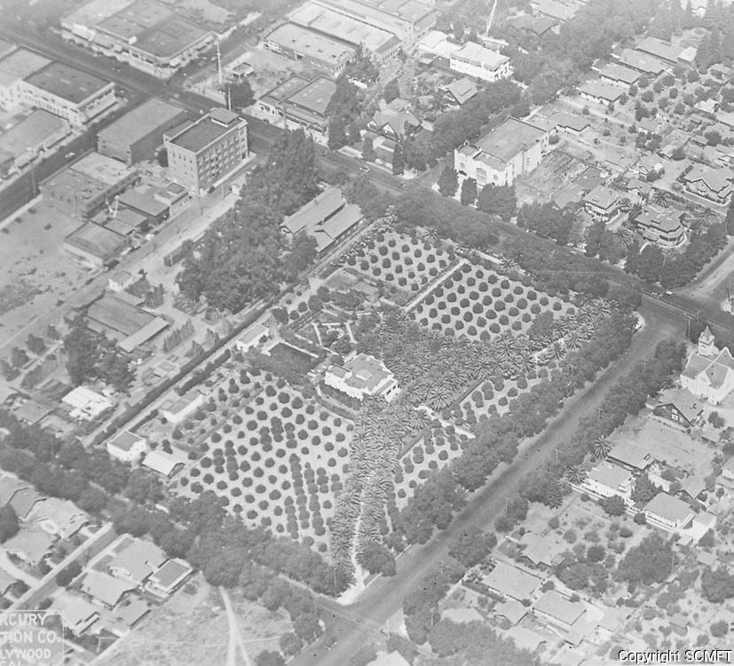 1920 Aerial of Stern home at Hollywood & Vine