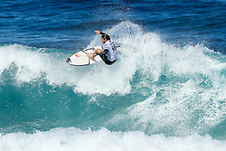 Leonardo Fioravanti of Italy will surf in Round Two of the 2017 Billabong Pipe Masters after placing third in Heat 1 of Round One at Pipe, Oahu, Hawaii, USA