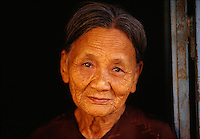 """Portrait of an old woman in Hoi An, Vietnam<br /> Available as Fine Art Print in the following sizes:<br /> 08""""x12""""US$   100.00<br /> 10""""x15""""US$ 150.00<br /> 12""""x18""""US$ 200.00<br /> 16""""x24""""US$ 300.00<br /> 20""""x30""""US$ 500.00"""