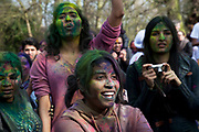 Holi being celebrated with the throwing of coloured powder paint by the local Hindu population at Orleans House Gallery in Richmond, London, UK. Holi is a religious Spring festival celebrated by Hindus, also known as Festival of Colours. It is primarily observed in India, Bangladesh, Pakistan, Nepal, and countries with large Indian diaspora following Hinduism, such as the United Kingdom. The main day, also known as Dhuli in Sanskrit, also Dhulheti, Dhulandi or Dhulendi, is celebrated by people throwing scented powder and perfume at each other to celebrate the start of Spring and the end of Winter.