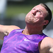 Tom Walsh, New Zealand, in action in the Men's Shot Put Competition during the Diamond League Adidas Grand Prix at Icahn Stadium, Randall's Island, Manhattan, New York, USA. 13th June 2015. Photo Tim Clayton