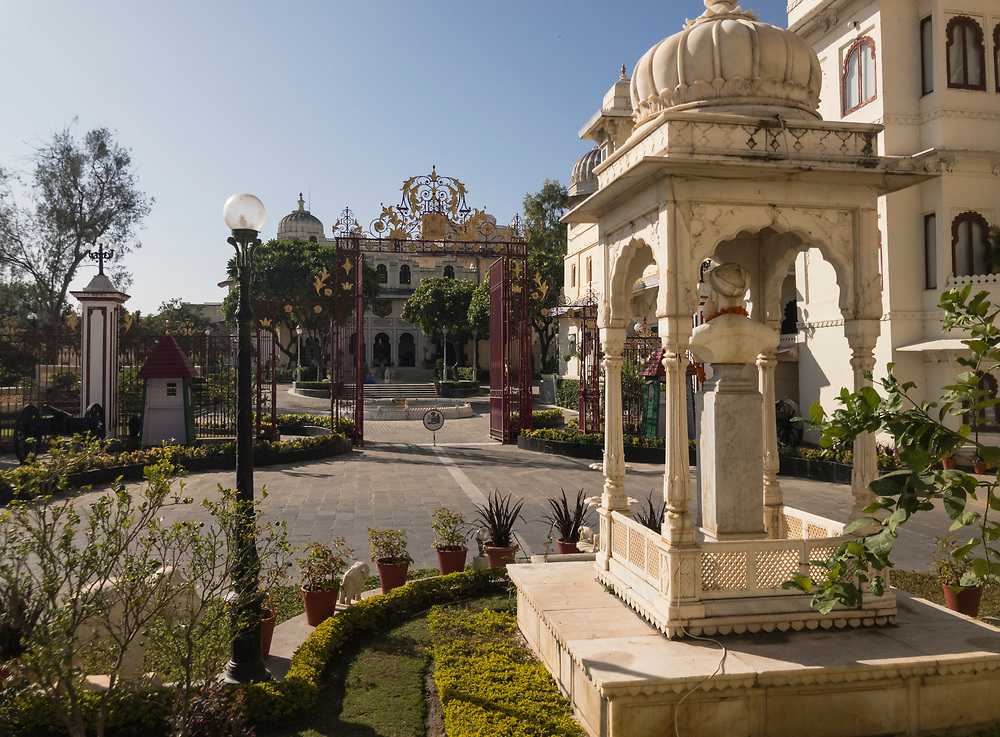 UDAIPUR, INDIA - CIRCA NOVEMBER 2016:  Gardens of the City Palace in Udaipur