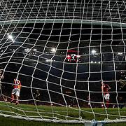 Galatasaray's Burak Yilmaz (L) during their Turkish Super League soccer match Galatasaray between Osmanlispor at the AliSamiYen Spor Kompleksi TT Arena at Seyrantepe in Istanbul Turkey on Monday, 24 August 2015. Photo by Aykut AKICI/TURKPIX