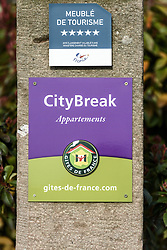 April 25, 2018 - FRANCE - French accomodation panels | .Signaletique d'hebergement touristique en France  25/04/2018 (Credit Image: © Jean-Marc Quinet/Belga via ZUMA Press)