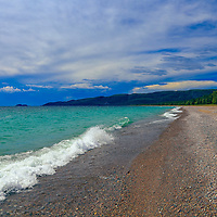 """""""On Pebbled Beaches""""<br /> <br /> Beautiful pebbled beaches of Lake Superior at Lake Superior Provincial Park in Ontario, Canada."""
