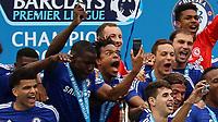Football - 2014 / 2015 Premier League - Chelsea vs. Sunderland.   <br /> <br /> Chelsea's Loic Remy take a selfie at Stamford Bridge. <br /> <br /> COLORSPORT/DANIEL BEARHAM