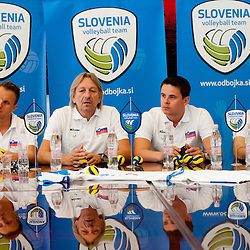 20110907: SLO, Press Conference of Slovenian Volleyball team before departure to Men's European Voll