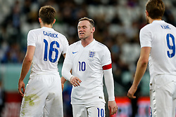 Wayne Rooney of England looks frustrated at full time after the match ends 1-1 - Photo mandatory by-line: Rogan Thomson/JMP - 07966 386802 - 31/03/2015 - SPORT - FOOTBALL - Turin, Italy - Juventus Stadium - Italy v England - FIFA International Friendly Match.