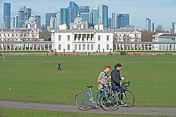© Licensed to London News Pictures 23/02/2021.        Greenwich, UK. A bright sunny park. People get out of their homes from a third national Coronavirus lockdown to enjoy some permitted exercise in the sunny weather as temperatures start to rise in Greenwich Park, London. Photo credit:Grant Falvey/LNP