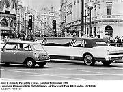 mini & stretch. Piccadilly Circus. London September 1996<br />Copyright Photograph by Dafydd Jones<br />66 Stockwell Park Rd. London SW9 0DA<br />Tel. 0171 733 0108