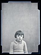 circa 1930s studio portrait of a little girl