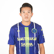 THAILAND - APRIL 09: Nopphon Ponkum #6 of Samut Prakan City FC on April 09, 2019.<br /> .<br /> .<br /> .<br /> (Photo by: Naratip Golf Srisupab/SEALs Sports Images/MB Media Solutions)