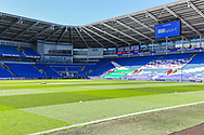 A general view of Cardiff City Stadium, home of Cardiff City FC before the EFL Sky Bet Championship match between Cardiff City and Nottingham Forest at the Cardiff City Stadium, Cardiff, Wales on 2 April 2021.