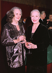 Left to right, LADY WRIGHT and actress ROSEMARY HARRIS,  at a dinner in London on 26th February 1998.MFT 9
